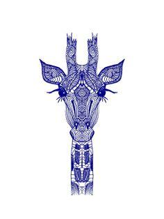 Giraffe Blue