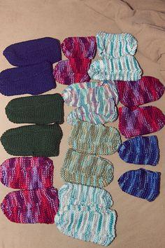 Pantoufles femmes hommes enfants tricot par CreationsArtPhoto