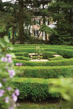 When a tree came down in an English-style garden, a labyrinth took its place.