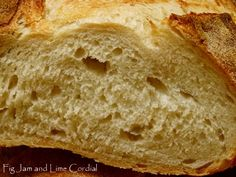 An Overnight Sourdough – In Pictures | Fig Jam and Lime Cordial