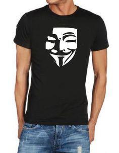 546fb94ba00a T shirt V PER VENDETTA FACE 2 maglia uomo donna film cinema horror cult  fashion