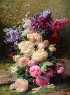 Живопись: Художник Jean-Baptiste Robie (1821-1901)