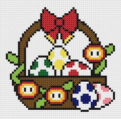 Mario themed Easter basket PDF pattern by CapesAndCrafts