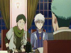 I´m always laughing by seeing this scene Akagami no Shirayukihime - OVA