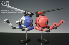 RB-79 BALL Amuro Ray and Char Aznable Customes