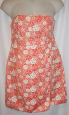 8d0669d5e Vineyard Vines Women's Strapless Sundress Pink Peach White Sandollar Size  14 #VineyardVines #Sundress #