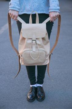 """Купить Кожаный рюкзак """"Городской"""" - кожа натуральная, рюкзак, рюкзачок, рюкзак женский, рюкзак кожаный"""