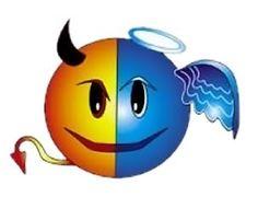 Devil or Angel Emoticons Smiley Emoticon, Animated Smiley Faces, Funny Emoji Faces, Animated Gif, Emoji Images, Emoji Pictures, Excited Emoticon, Facebook Emoticons, Naughty Emoji