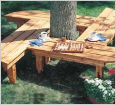 Check out free membership home design   hexagon-formed bench round a tree supplies further ...