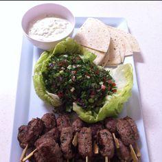 Lamb Kofta w Tabouli & Minted Yoghurt #buffet  #canape