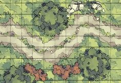 The Roadside Wilderness, a FREE battle map tile for D&D / Dungeons & Dragons, Pathfinder, Warhammer and other table top RPGs. Tags: forest, geomorph, night, path, road, tile, tiles, tileset, wilderness