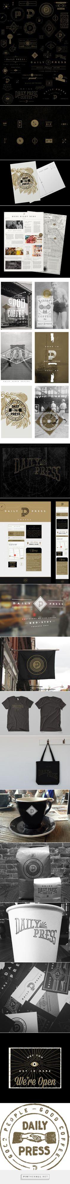 Daily Press Identity on Behance - created via http://pinthemall.net