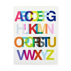 Helvetica alphabet poster! Now your kids can learn their abc's while staying typographically hip!