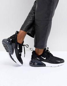 on sale 6ca84 5c6bd Nike Air Max 270 Trainers In Black Nike Air Max, Sos, Cestini, Sneakers
