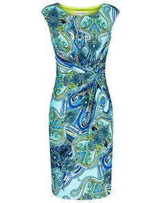Anthea Crawford Australia Neon Paisley Print Dress