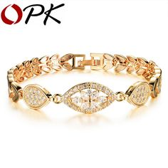 OPK Luxury 18K Gold Plated Chain Link Bracelet for Women Ladies Shining AAA Cubic Zircon Crystal Birthday Jewelry Gift KS484 - http://jewelryfromchina.com/?product=opk-luxury-18k-gold-plated-chain-link-bracelet-for-women-ladies-shining-aaa-cubic-zircon-crystal-birthday-jewelry-gift-ks484