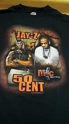 Jay Z 50 Cent Rock The Mic Vintage Rap Hip Hop Tour T-shirt  | Entertainment Memorabilia, Music Memorabilia, Rap & Hip Hop | eBay!