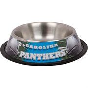 Carolina Panthers Stainless Steel Pet Bowl #NFL #NFLDogProducts #NFLPetProducts #DogProducts #PetProducts #CarolinaPanthers #CarolinaPanthersDogs #CarolinaPanthersPets #Panthers #Animals #Dogs #Pets #AdorabullBulldogs #PawsativeParents