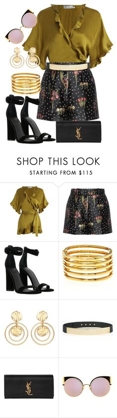 """""""Sunday Brunch Style"""" by stylistinme ❤ liked on Polyvore featuring Zimmermann, RED Valentino, Kendall + Kylie, Kenneth Jay Lane, Halston Heritage, Yves Saint Laurent and Fendi"""