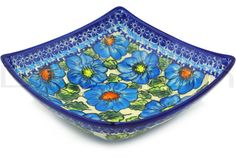 Polish Pottery Stoneware BOWL SQUARE