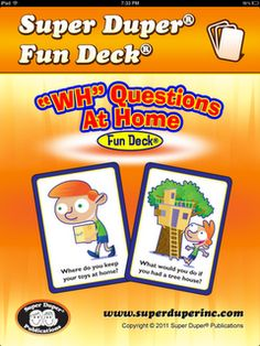 "App Review-""WH"" Questions At Home Fun Deck from Simply Speech. Pinned by SOS Inc. Resources @sostherapy."