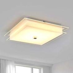 Stoff Ø 50 cm schwarz Wohn Zimmer Decken Leuchte mit 3 Philips LED Lampen 8 Watt