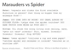 the marauders and spiders