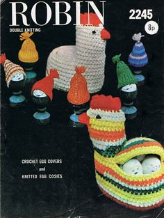 Mother Hen Egg Basket Crochet Pattern and Egg by HeirloomPatterns