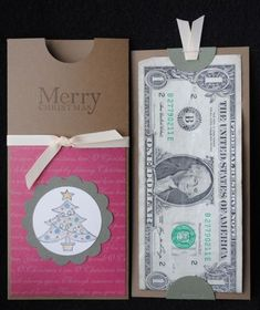 Christmas Money Holder by ivy Gift Cards Money, Cash Gifts, Diy Gifts, Handmade Gifts, Holiday Cards, Christmas Cards, Paper Gifts, Card Tags, Creative Cards