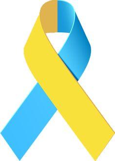 Yellow And Blue Awareness Ribbon Awareness Ribbons Awareness I Miss My Mom
