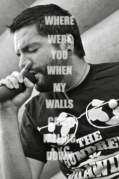 Sticks & Bricks ~ ADTR My favorite song right now. Band Quotes, Lyric Quotes, Music Is My Escape, Music Is Life, Jeremy Mckinnon, Screamo Bands, Of Mice And Men, Sing To Me, A Day To Remember