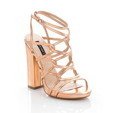 metallic and strappy!