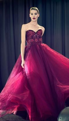 Lorena Sarbu Pre Fall 2014: This gown is fit for a princess! It flows perfectly! The color is beautiful.