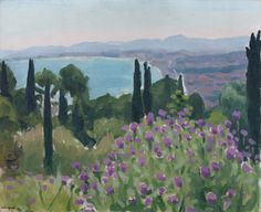 The Bay of Algiers   -    Albert Marquet , ca.1921,   French, 1875-1947  oil on cardboard, 33 x 41 cm.