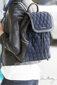 Amy Backpack in Sycamore Indigo Denim: Denim (a classic staple) gets an elevated upgrade