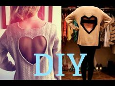 DIY heart backless sweater | revamp an old sweater in a stylish way