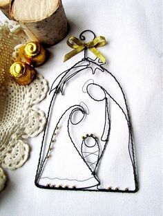 The Godly Play Advent stories can be found in the third volume of Godly Play and in the Young Children and Worship books. Three of the Gospels describe the birth of Jesus. Wire Ornaments, Nativity Ornaments, Christmas Nativity Scene, Nativity Crafts, Christmas Tree Ornaments, Christmas Decorations, Nativity Scenes, Christmas Projects, Holiday Crafts