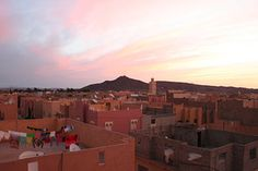 Erfoud, Morocco. Sand seemed to seep in and make a fine layer of dust on all bed sheets every day...