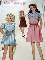 LOVELY VTG 1940s GIRLS EMBROIDERED DRESS McCALL Sewing Pattern 8