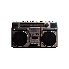 PSD Detail   80's BOOMBOX   Official PSDs ❤ liked on Polyvore featuring fillers, music, electronics, accessories and other