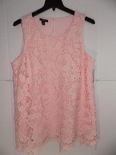 37c36a7193e WTC2530 Alfani Women Plus Floral Sleeveless Lace Tunic Top NWT Size 18W  MSRP $85 #fashion