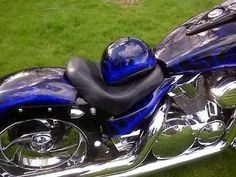 Honda Vtx-1300 240 Raked Custom Chopper PhaseII HK Pipes makes Justin Bieber cry.