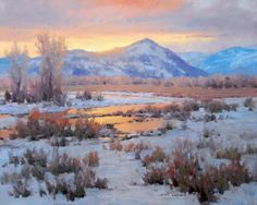 One Last Wink: Original oil landscape painting art of Grand Teton National Park by Prix de West Award winning artist and painter Jim Wilcox