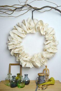 fabric wreaths | Craft Time: Ruffled Fabric Wreath Tutorial | Appliances Online @ Home