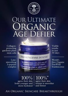 60 Days will prove what a difference this makes! Try it and see: https://uk.nyrorganic.com/shop/ameliacritchlow/area/shop-online/category/moisturisers/product/0598/frankincense-intense-cream-50g/