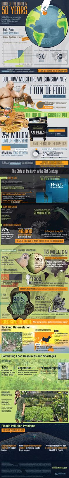 State of the Earth in 50 years #Infographic #Earth