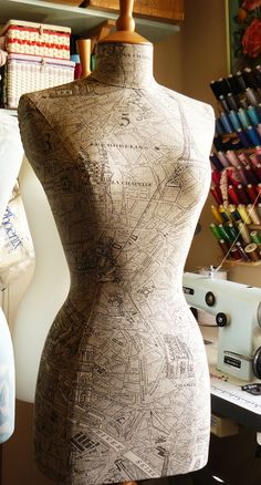 one of my favourites....Parisienne map mannequin