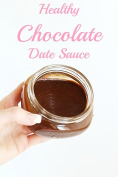 Healthy Chocolate Date Sauce is a naturally sweet indulgent chocolate sauce, for topping on nice cream, dipping fruit, or anything else! Only 3 ingredients!