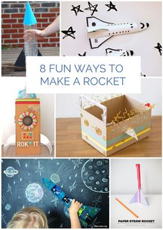 Super fun and easy rocket crafts for kids. #rockets #kidscrafts