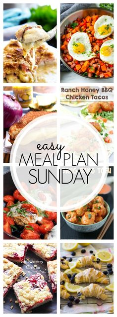 Easy Meal Plan Sunday #94 won't disappoint! Grab the recipes for your week including a healthier option!